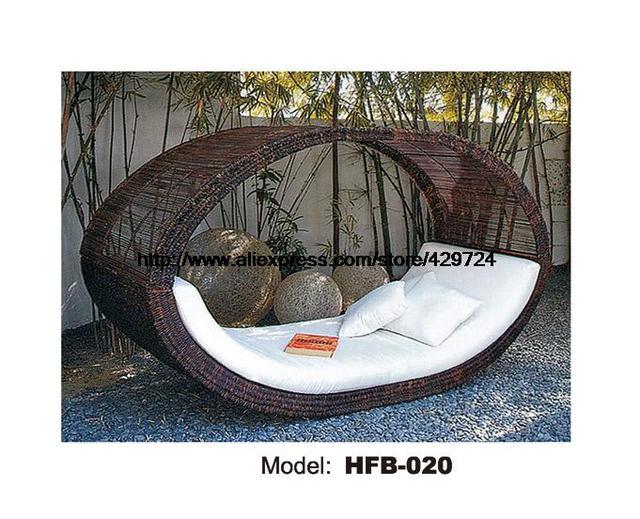 Vogelnest ontwerp creative rotan sofa bed leisure liggen lounge