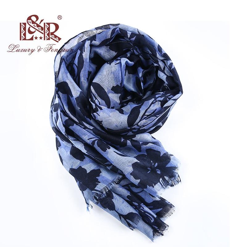 2018 Women Winter Autumn Long Soft Floral Scarf Printed LeavesTassel Shawl New Winter Silk Scarf For Women Tartan Hijab bandana