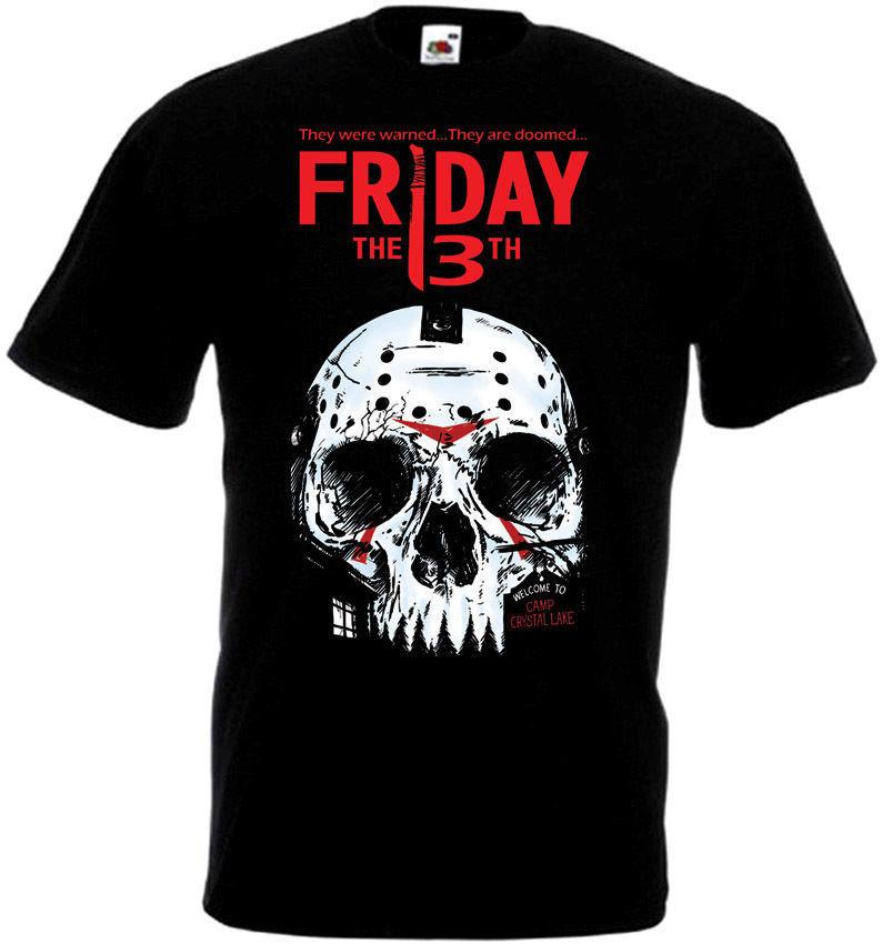 Friday The 13 v16 T-Shirt all sizes S-5XL BLACK