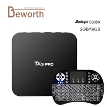TX5 Pro Amlogic S905X Android 6.0 TV Box 2G/16G KODI 16.1 2.4/5.8G Wifi BT4.0 H.265 4 K Smart IPTV Europe Media Player PK X96 TX3