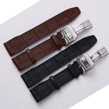 20mm 21mm 22mm Mannen Echt Lederen Horloge Band Strap Hoge Kwaliteit Armband Riem Armband voor IWC Portugal mark 18 Pilot