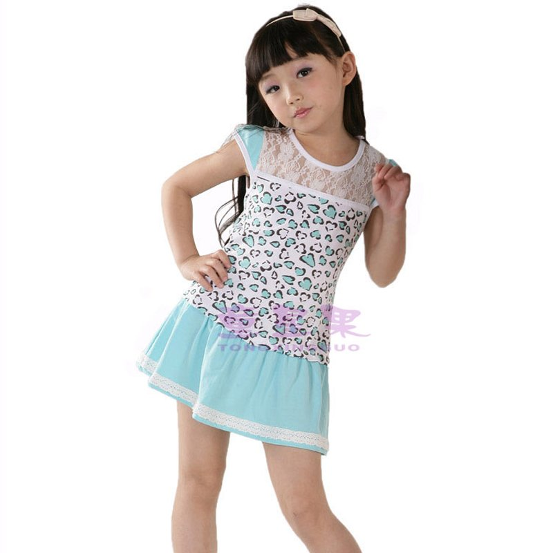 Wholesale Childrens Summer Dress Baby Girls Mini Dresses -1932