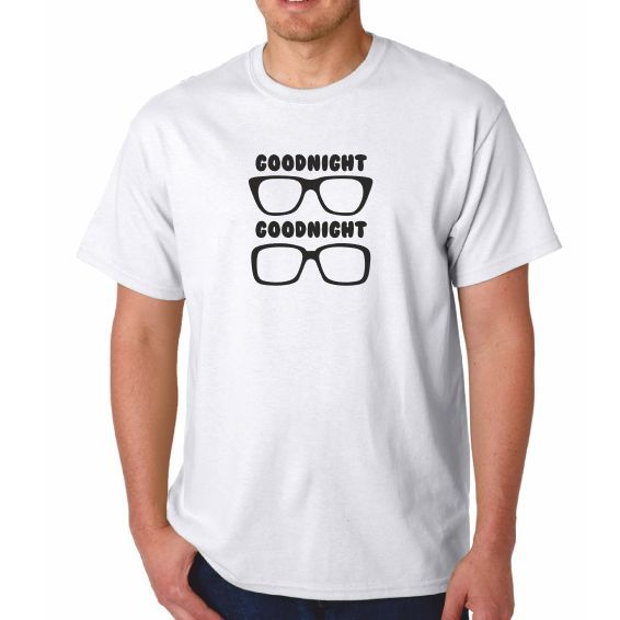 Mens - The Two 2 Ronnies Ronnie Corbett Tshirt - GOODNIGHT From Me GLASSES