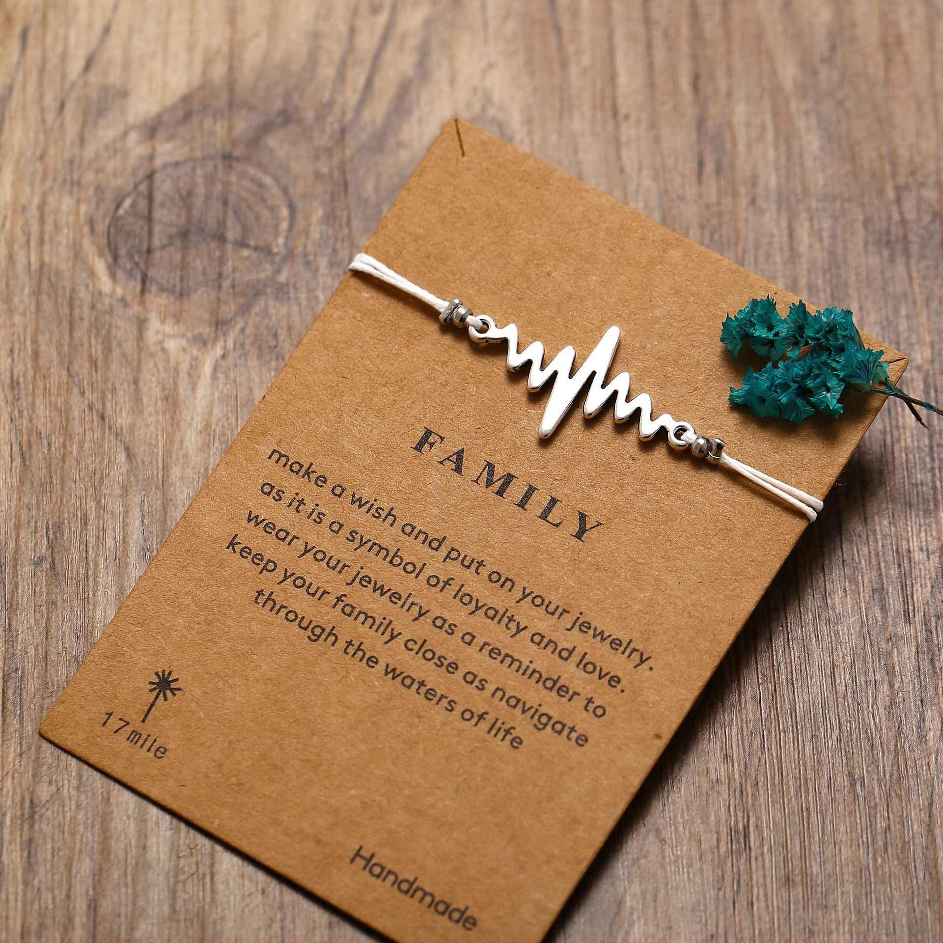 Модные браслеты с бесконечным камнем, набор и открытка для сообщений для женщин и мужчин, лучший друг, дистанционный браслет 2019, ювелирные изделия