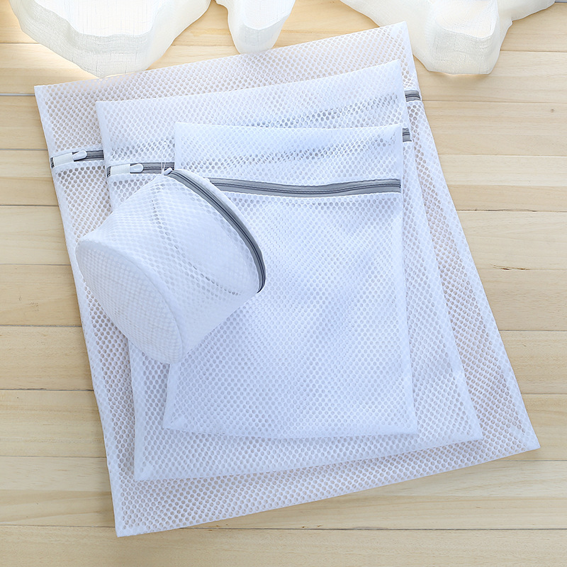 5pcs Set Cellular Net White Laundry Bag Net Bag Machine Laundry Care Bag