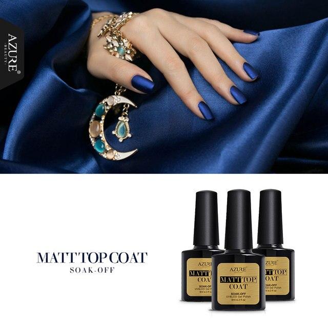 Azure Beauty Ногтей Гель Для Ногтей Новое Прибытие Матовый Матовый Top Coat выдерживает с Геля Для Ногтей УФ-Лак Гель