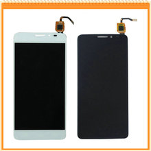 100% New For Alcatel OT6043 6043 6043D LCD Display with Touch Screen Digitizer Assembly Black White Free Shipping