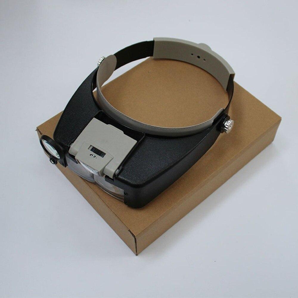LED Lamp Light Headband Jewelry Magnifying Glass Headband LED Light Magnifying Glass Lens Visor Toiletry Kits New Selling