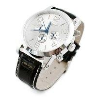 Relogios זכר jaragar 6 ידיים תאריך אוטומטי שעון מכאני אוטומטי פלדת מקרה גברים יום נירוסטה