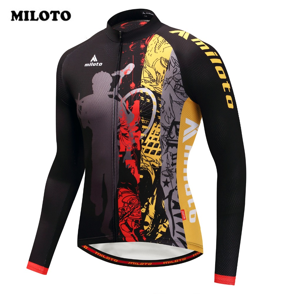 2018 Miloto Cycling Jersey Riding Road Pro Mtb Long Sleeve Men Cycling Clothing Shirt Ropa Ciclismo bicycle outdoor Bike Jersey