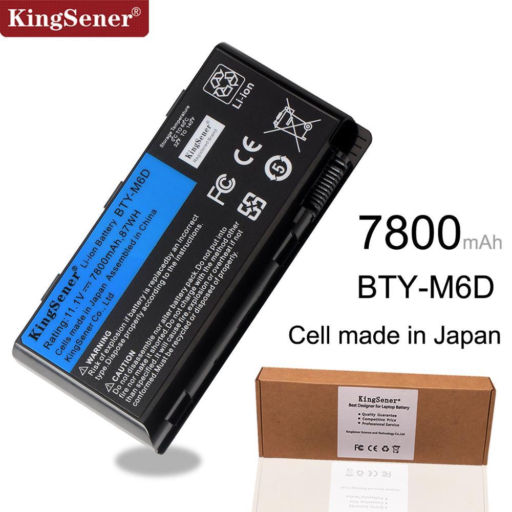 11.1V 7800mAh New BTY-M6D Laptop Battery For MSI GT60 GT70 GX780R GX680 GX780 GT780R GT660R GT663R GX660 GT680R GT783R 9CELLS