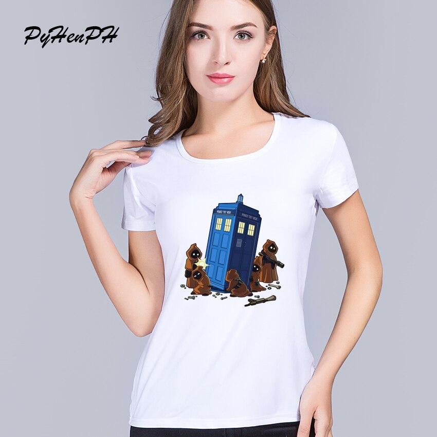 c713e8a15 PyHenPH أزياء النساء t قميص طبيب قميص مطبوع امرأة الشرطة مربع الدكتور الذين  س الرقبة المحملة قميص فام محب قمم. Click here ...