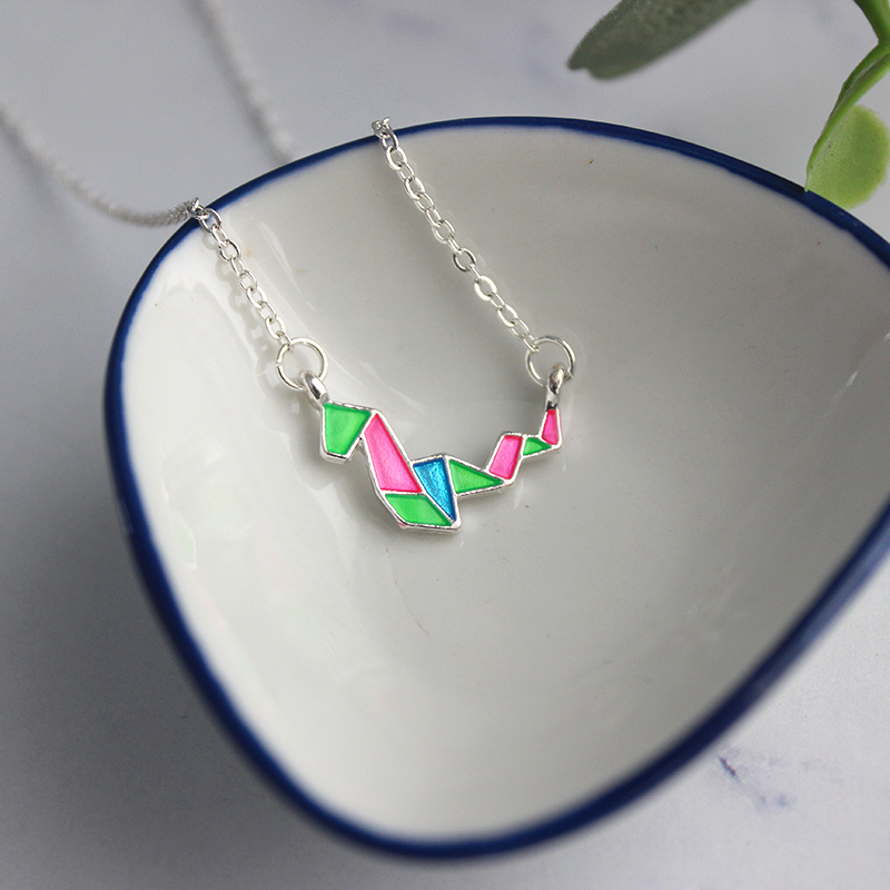SANSUMMER Necklaces Women Animal Sign Necklace Geometric Abstract Cartoon Zodiac Animal Necklace Personality Clavicle Chain 6527 in Chain Necklaces from Jewelry Accessories