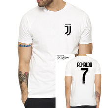 e0470a75f New shubuzhi Men s Juventus Cr7 Name Cristiano Ronaldo 7 T-Shirt Women  Short Sleeve O Neck T Shirts for Juventus Fans Gift
