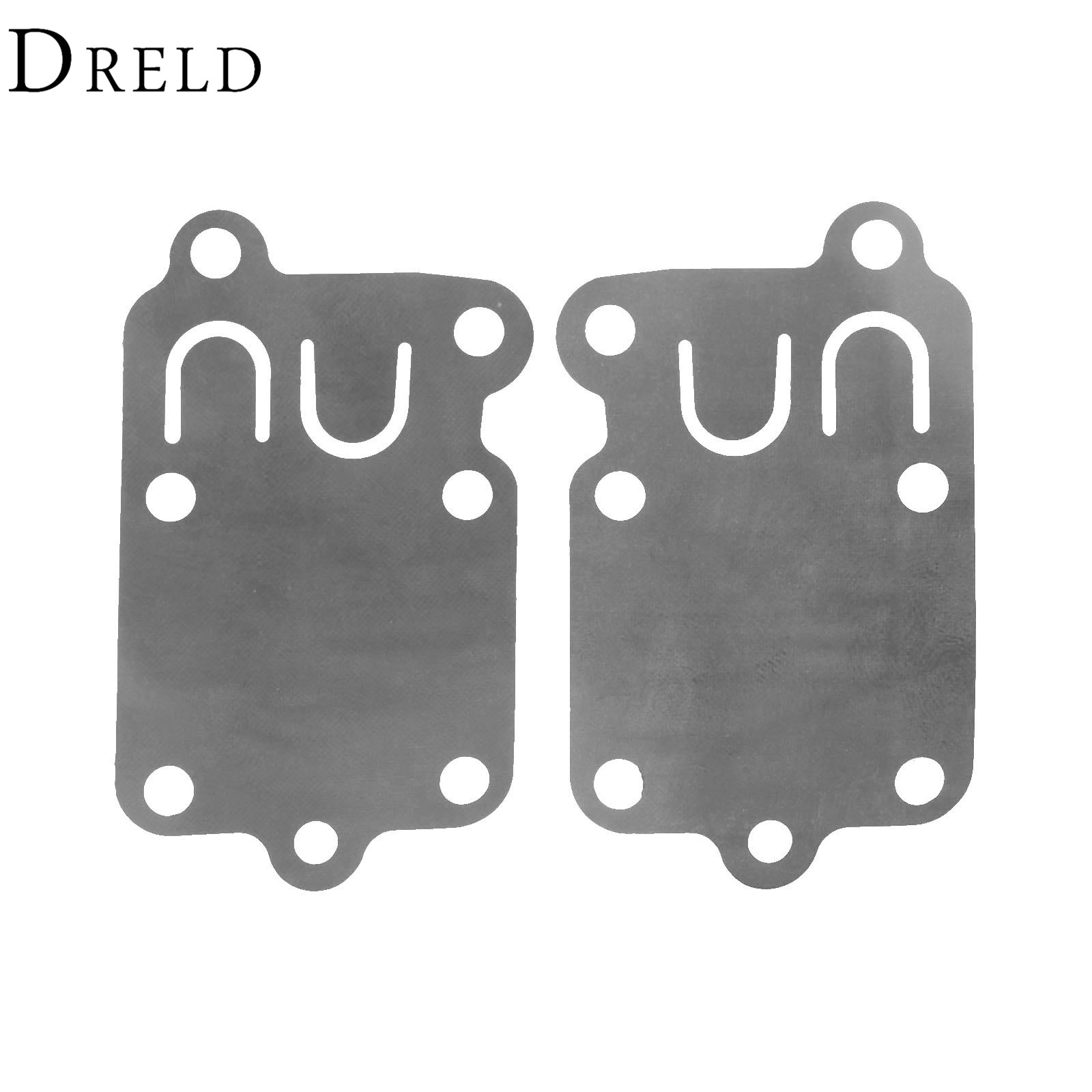 DRELD 2Pcs Rubber Carburetor Carb Diaphragm Gasket for Briggs and Stratton Carburettor Oil Gasket Garden Tools Parts