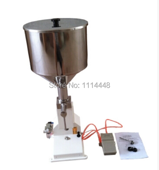 High quality pneumatic cosmetic paste liquid filling machine cream filler 1-10ml shampoo lotion cream yoghourt honey juice sauce jam gel filler paste filling machine pneumatic piston filler with free shipping