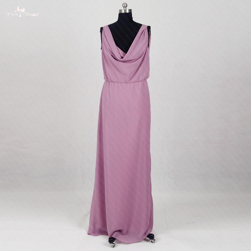 RSE290 Cheap Wedding Guest Dress Long Chiffon Purple