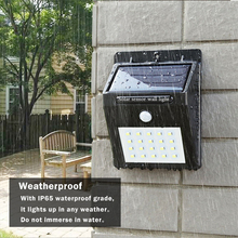 20LED solar powered LED sensor PIR Motion Sensor Wall lamp waterproof outdoor Garden street wall night light security led lamp