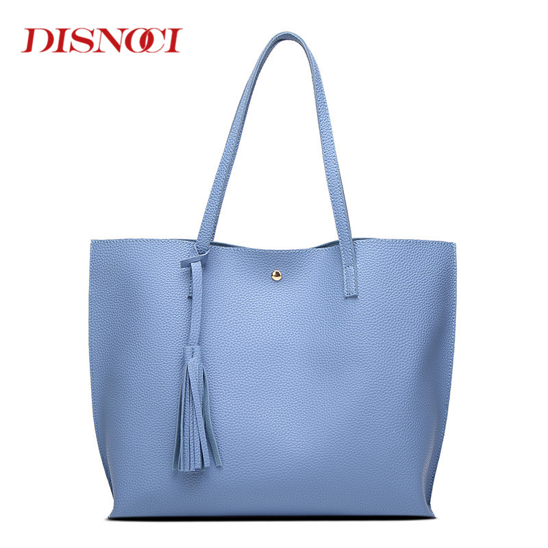 DISNOCI New Retro LUXURY Style PU Leather Women Shoulder Bag Brand Designer Handbags Crossbody Bag Tassel Shopping Bag