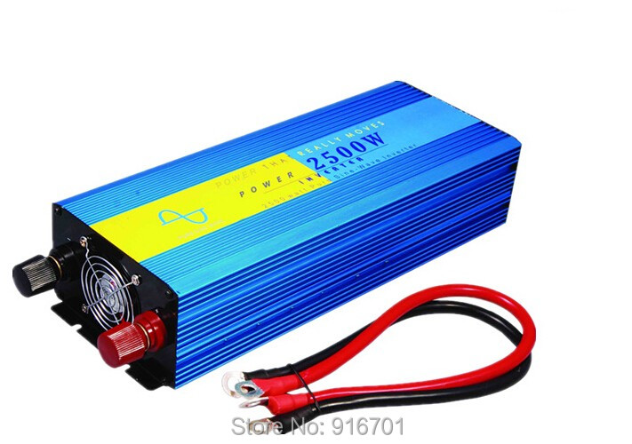 high quality 2500w Pure Sine Wave Power Inverter Power inverter Car Inverter Converter inverter range 24VDC to 220VAC