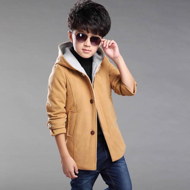 0758e95bc01a Online Shop Boys Trench Coat Autumn 2017 Children Long Coat Kids ...