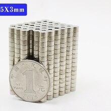 1000 шт. мини маленький N38 Круглый Магнит 5x3 мм неодимовый магнит Постоянный NdFeB супер сильные мощные магниты