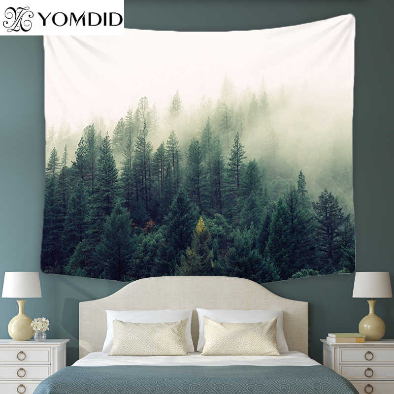 3 размера лес живописный гобелен индийская Мандала настенный гобелен покрывало йога коврик пляжное полотенце стол Пикник ткань одеяло