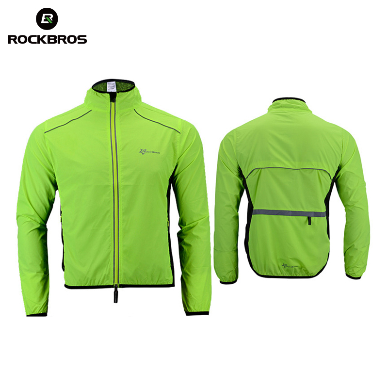 ROCKBROS Multifunction Running Jacket Windproof Cycling Bike Jacket Reflective Quick Dry Ourdoor Sportswear Running Men Jerseys