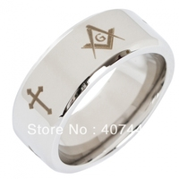 Free Shipping Cheap Price USA Canada UK Russia Brazil Hot Sales 8MM Beveled Silver Men S