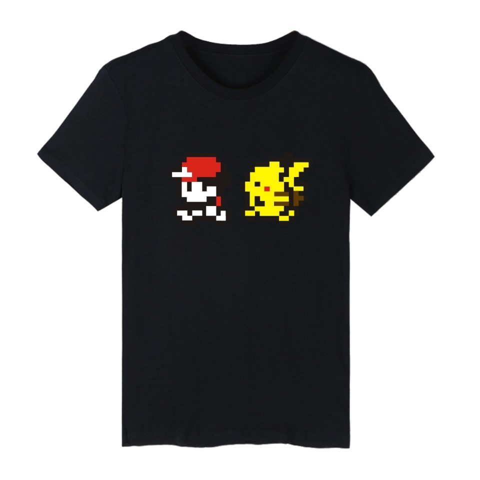 hostsale Pokemon Go Funny T-shirts For Man Pocket Monster Funny Cartoon  Short Sleeve T Shirt Men Black And White Tee Shirt Men Hip Hop this is  shopping mall ... dbd9dd085d36
