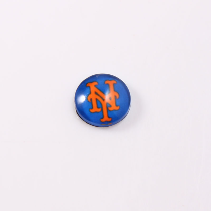 New York Mets 22mm Stainless Steel Locket Window Plate Floating Charms Fit 30mm Glass Living Lockets 20pcs/lot