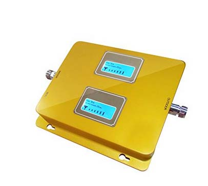 Dual Band GSM/WCDMA 900MHZ 2100MHZ 3G Cell/mobile Phone Repeater Booster Detector Repetidor Amplifier With Dual LCD Display