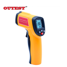 Best price OUTEST Digital Laser IR infrared thermometer Non-contact LCD Gun Style laser temperature gun -50~420C(-58~78F) GM300E