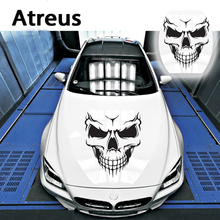 Atreus 3 size Car Skull Head Engine Hood Door Window Sticker For Ford focus 2 fiesta
