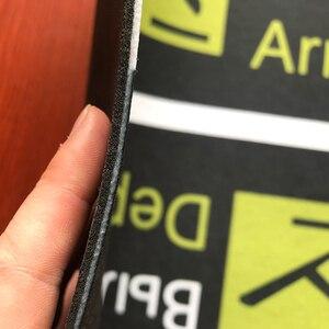 Image 3 - مضحك دواسة باب الطائرات وصول رحيل داخلي في الهواء الطلق مدخل ديكور ممسحة مخصص المطاط المضادة للانزلاق
