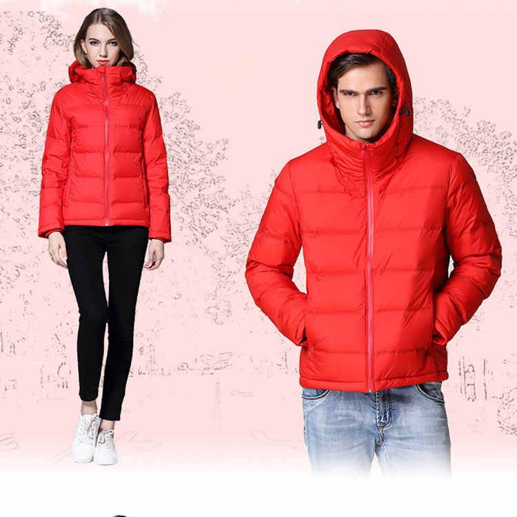"""CIVICHIC модная мужская женский пуховик зимняя теплая плотная куртка с рисунками """"влюбленные пары с капюшоном Верхняя Костюмы одежда на гагачьем пуху DC520"""