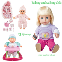 13 estilo de Alta Qualidade BDCOLE Falando e Falando Brinquedo Silicone Bebê recém-nascido Boneca Crianças Educacional Pretend Play Toy Presente Da Menina brinquedo