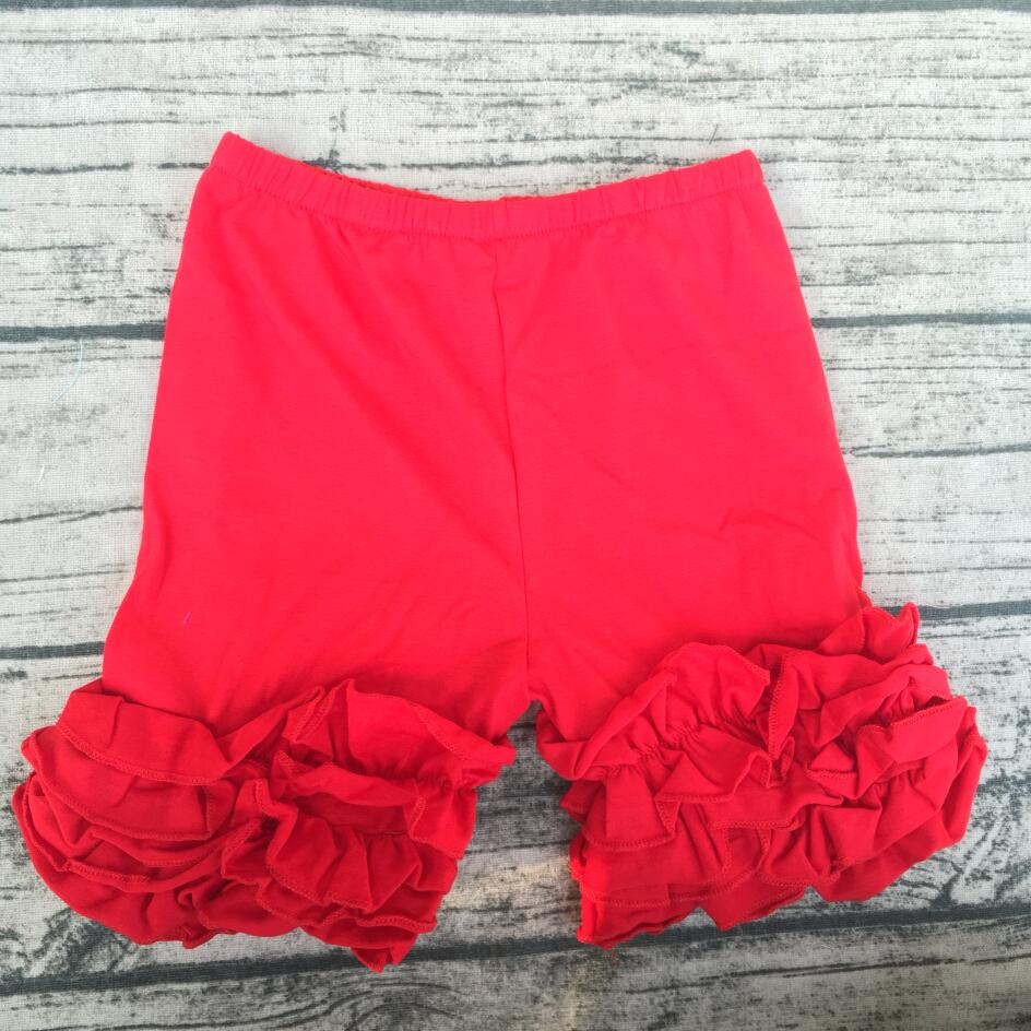 Baby Little Girls Short Icing Triple Ruffle Shorts