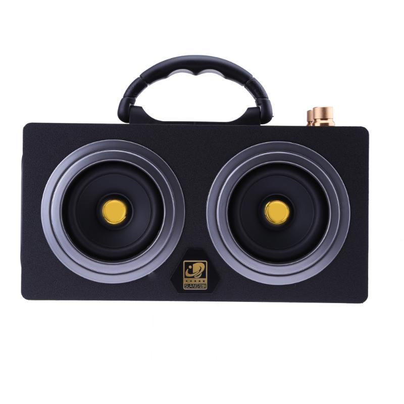 ALLOYSEED Bluetooth Speaker Portable 2 x 10W Large Power Wireless Bluetooth Wooden HiFi Speaker 30m Music Transmission