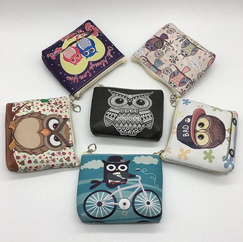 M101 2017 Creative Printing Women Purses Cute Owl Series Ride A  Wear A Hat Get Angry Takeoff Zero Purse Coin Bag boegli m 101