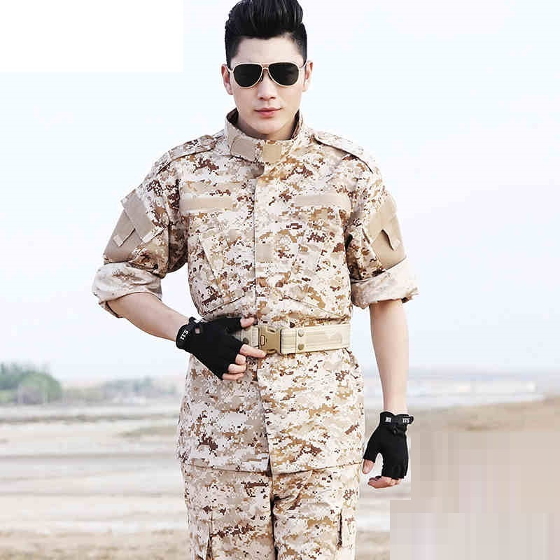 (10 Set-Top&Pant) Forces Combat Uniform Military Training Overalls Military Enthusiasts Dress Pure Cotton Strong Wear-resisting