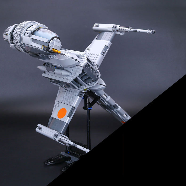 Hot 05045 1487Pcs Star B- Starfighter Wing Model Building Kits Bricks Compatible Toys Gift 10277 Funny Toy War lepin 05040 y attack starfighter wing building block assembled brick star series war toys compatible with 10134 educational gift
