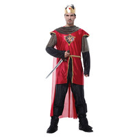 Noble red king costumes prince cosplay men Halloween costumes for fancy dress party masquerade performance clothes suit