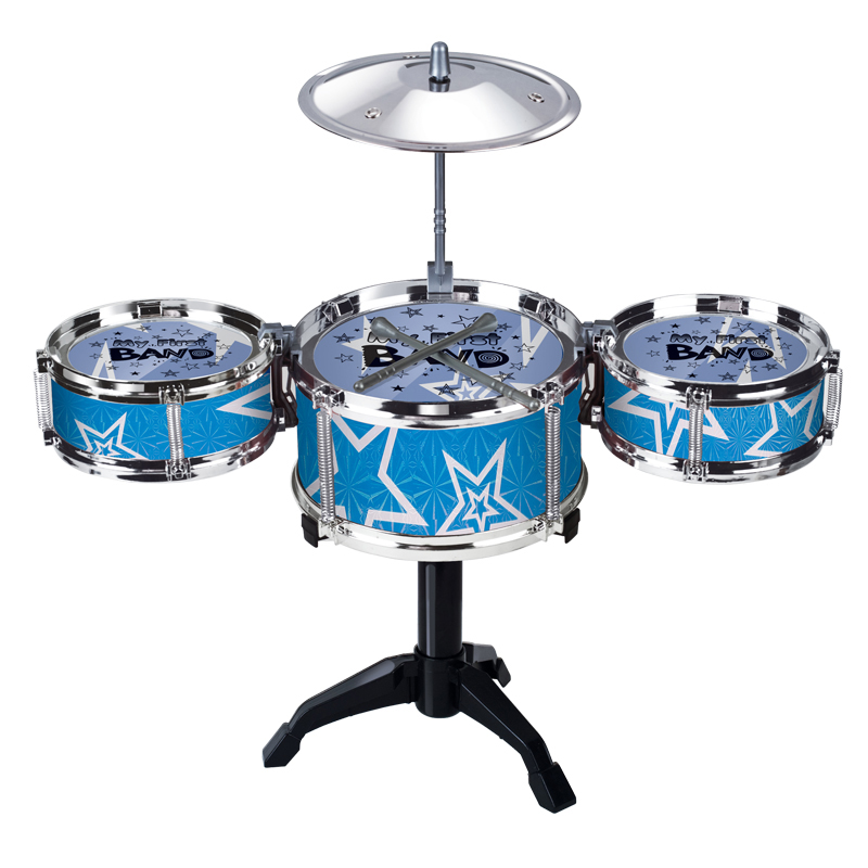 Toy Drum Musical Instruments : Blue red jazz drum kids early education toy musical