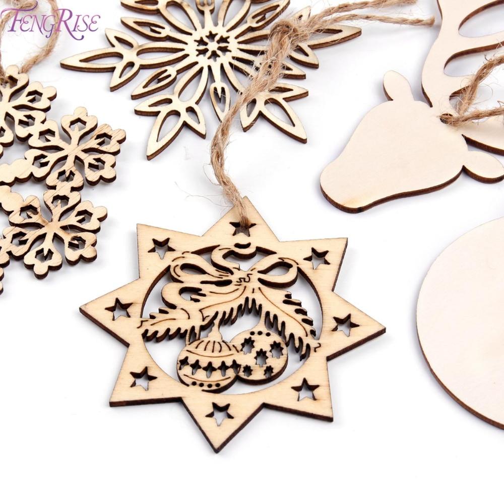 fengrise wooden snowflakes christmas tree garland wood. Black Bedroom Furniture Sets. Home Design Ideas