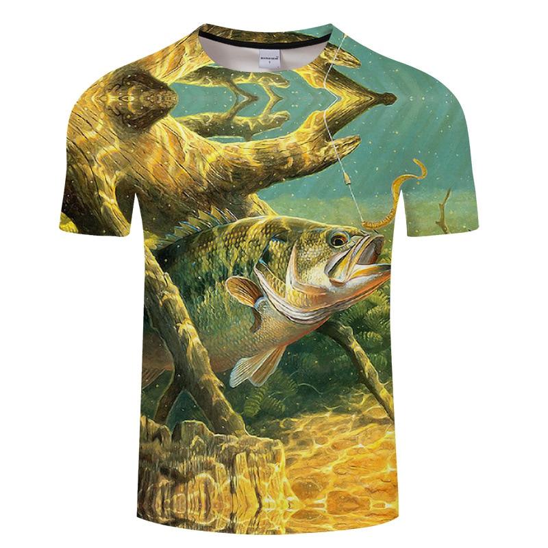 Funny Fish Sea Fish Tuna leisure 3D Printed t shirt Fashion Women Marval 3D Men T shirt Hip Hop Tshirt Harajuku Asian Aize S-6XL