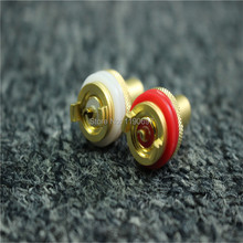 Gold plated Socket Audio Input AV Audio Signal Input Socket RCA Jack Chassis Mount Washer 2pieces Free Shipping