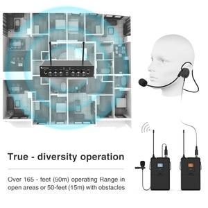 Image 5 - ワイヤレスマイクシステム、 Fifine UHF デュアルチャンネルワイヤレスマイク 2 ヘッドセット & 2 ラペルラベリアマイクロホンで設定。 K038