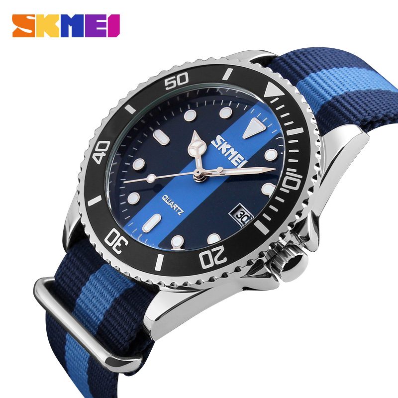 2016 Luxury Brand Watches Male Fashion Casual Quartz Watch Fabric Strap Army Military Men Sport Wristwatch Man Relogio Masculino mens watch top luxury brand fashion hollow clock male casual sport wristwatch men pirate skull style quartz watch reloj homber