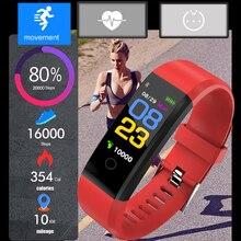 цена LIGE Smart Bracelet Multi Function Sport Smart Wristband Heart Rate Blood Pressure Monitor Fitness Tracker Waterproof Watch+Box